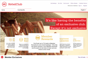 HotelClub Member Rewards Upto 7%