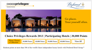 Preferred Hotel Collection by Choice Privileges – Luxury Boutique Hotels at decent rates