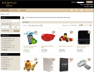Shopping Portal with Etihad