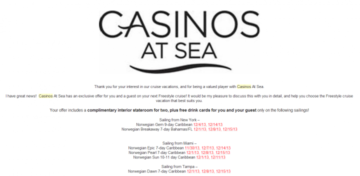Casino Cruise Giveaway