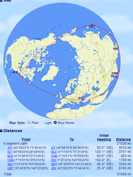 Our biggest trip of the year as shown by GCMAP