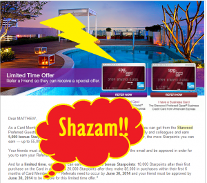 ALERT ALERT – THERE IS AN AMAZING (SPG) DEAL HERE