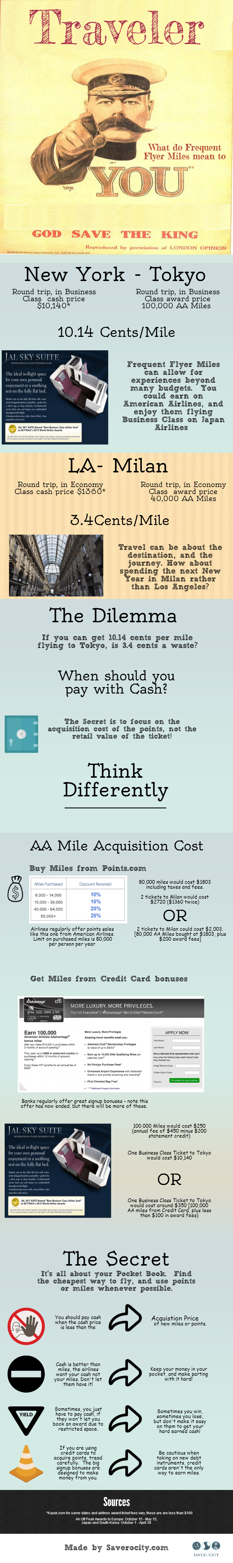 When to pay with miles and when to pay with cash