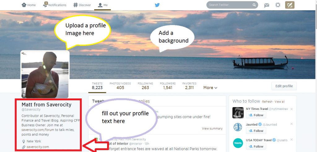 Complete Twitter Profiles work better - drop the egg!