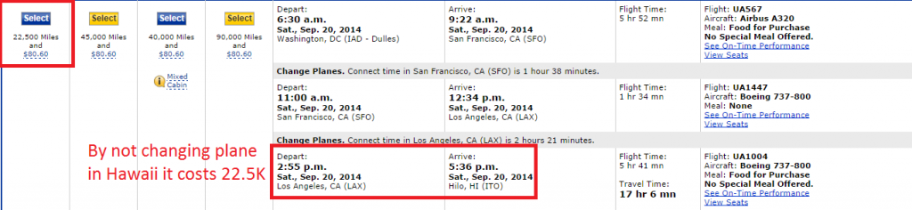 22.5K to ITO by changing in LAX