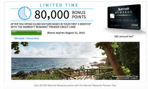 PSA – the Marriott 80,000 offer perhaps isn't worth it.