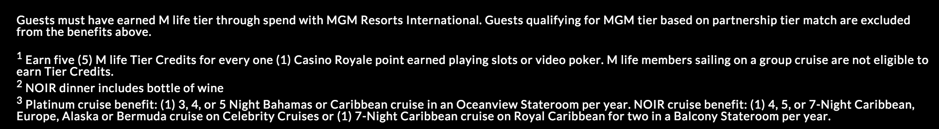 Celebrity Cruises - M life Rewards Partners - MGM Resorts
