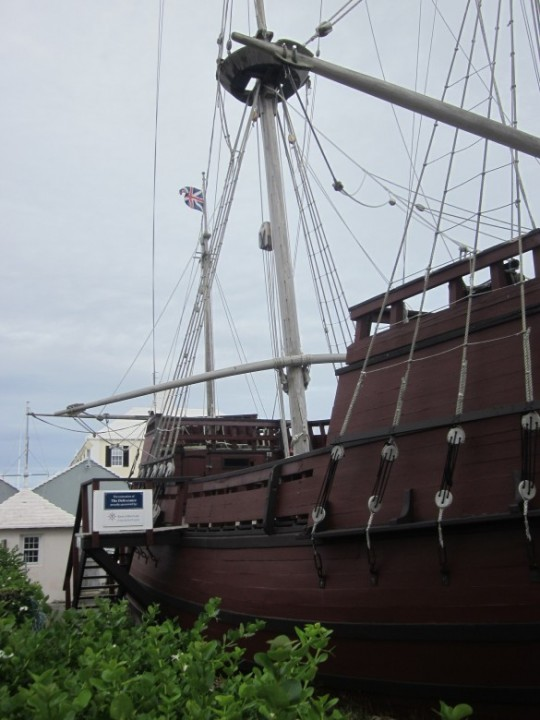 A replica of the ship Deliverance