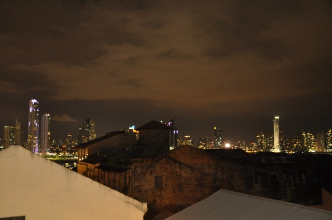 The view from Tantalo's rooftop