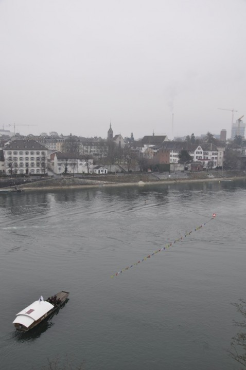 """Leu"" cable ferry across the Rhine"