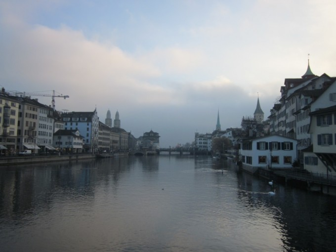 Looking Upstream from the River Limmat