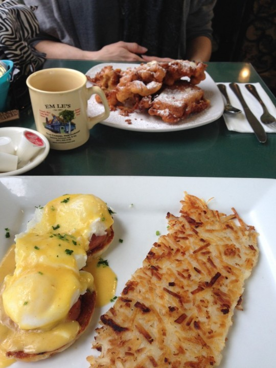 Eggs Benedict and Fried French Toast at 10am? Don't mind if I do!