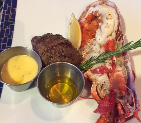 Surf and Turf at Cagney's Steakhouse