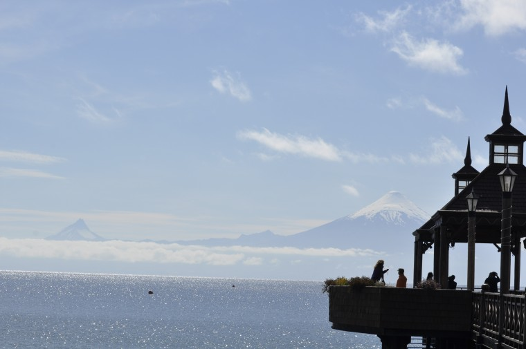 Volcano view from the Frutillar opera house