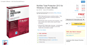 Staples Anti Virus Software from Mcafee