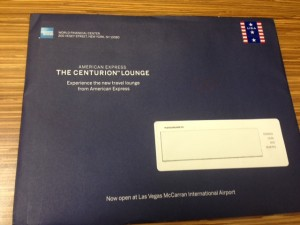 Invite From American Express Centurion Lounge