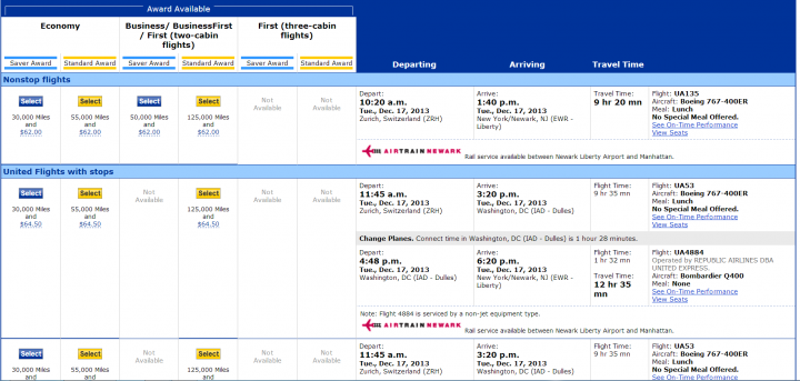 Direct Flights Showing