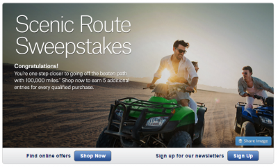 Shopping Portal Promotion: Alaska Airlines' Scenic Route Sweepstakes