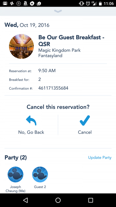 Using the My Disney Experience App