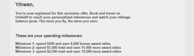 Big mileage bonuses for spend at United
