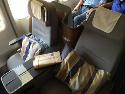 Flying the Cycle – Three Different Business Class Seats