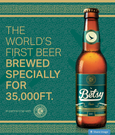 Finally, a beer brewed for 35,000 feet!