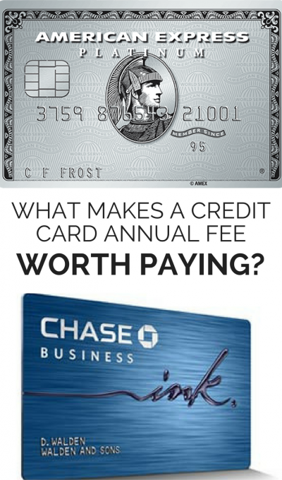 Credit card annual fees worth paying