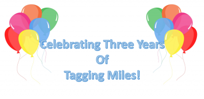 Thank you for 3 Years of Tagging Miles!