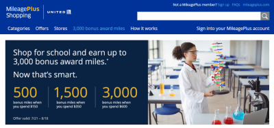 Earn 8,000 bonus miles from Airline Shopping Portals!
