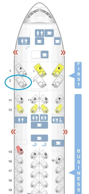 Easily Assign Seat 2A on Cathay Pacific First Class