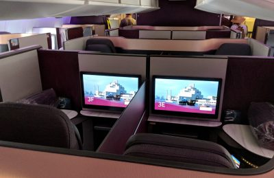 Onboard Qatar Airways QSuites